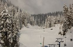 σκι τρεξίματος Στοκ φωτογραφίες με δικαίωμα ελεύθερης χρήσης