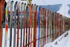 σκι φραγών Στοκ Εικόνες