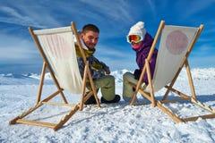 Σκι Apres στα βουνά Στοκ Φωτογραφίες