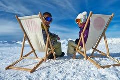 Σκι Apres στα βουνά Στοκ εικόνες με δικαίωμα ελεύθερης χρήσης