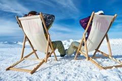 Σκι Apres στα βουνά Στοκ Εικόνα