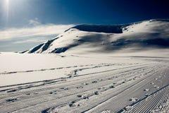 σκι mavrovo της κεντρικής Μακε&d Στοκ Εικόνα