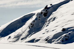 σκι mavrovo της κεντρικής Μακε&d Στοκ εικόνες με δικαίωμα ελεύθερης χρήσης
