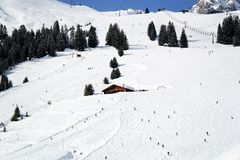 Σκι Piste σε Lech στοκ εικόνες