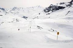 Σκι piste στην Αυστρία στοκ φωτογραφία με δικαίωμα ελεύθερης χρήσης