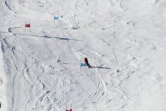 Σκι piste στην Αυστρία στοκ εικόνα