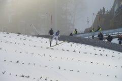 Σκι WC που πετά Vikersund (Νορβηγία) στις 14 Φεβρουαρίου 2015 Στοκ Φωτογραφία