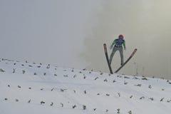 Σκι WC που πετά Vikersund (Νορβηγία) στις 14 Φεβρουαρίου 2015 Στοκ εικόνες με δικαίωμα ελεύθερης χρήσης