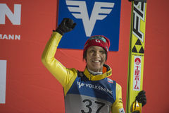 Σκι WC που πετά Vikersund (Νορβηγία) στις 14 Φεβρουαρίου 2015 (από το 2$ο κατά το ήμισυ Στοκ φωτογραφίες με δικαίωμα ελεύθερης χρήσης