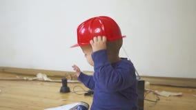 σκληρά εργαλεία καπέλων &ka απόθεμα βίντεο
