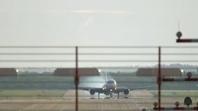 Σκληρή προσγείωση αεροπλάνων απόθεμα βίντεο