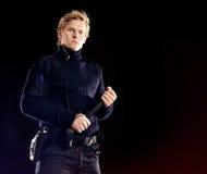 Σκληρός αξιωματικός ασφαλείας σοβαρός για την ασφάλεια Στοκ Φωτογραφίες