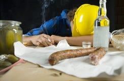 σκληρός στηργμένος εργα&zet Στοκ φωτογραφία με δικαίωμα ελεύθερης χρήσης