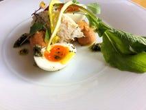 Σκληρό βρασμένο αυγό κοτών ` s ως εκκινητή Στοκ φωτογραφίες με δικαίωμα ελεύθερης χρήσης