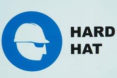 Σκληρό καπέλο εικονιδίων κατασκευής Στοκ φωτογραφία με δικαίωμα ελεύθερης χρήσης