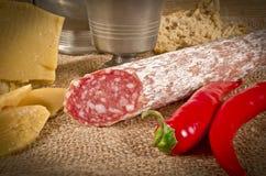 Σκληρό τυρί με το pur porc Στοκ Εικόνα