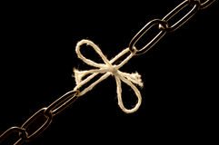 σκοινί αλυσίδων που εξασθενίζουν Στοκ εικόνα με δικαίωμα ελεύθερης χρήσης
