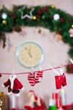 Σκοινί για άπλωμα ενδυμάτων Santa στοκ φωτογραφίες με δικαίωμα ελεύθερης χρήσης