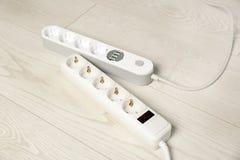 Σκοινιά επέκτασης στο πάτωμα Ηλεκτρολόγου στοκ εικόνα με δικαίωμα ελεύθερης χρήσης