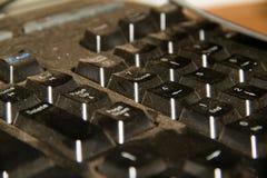 σκονισμένο πληκτρολόγι&omicr Στοκ φωτογραφία με δικαίωμα ελεύθερης χρήσης