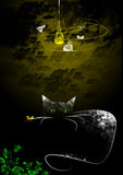 σκοτάδι γατών Στοκ Εικόνες