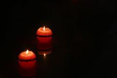 σκοτάδι κεριών Στοκ φωτογραφίες με δικαίωμα ελεύθερης χρήσης