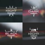 Σκοτάδι που συναγωνίζεται το αστικό θολωμένο υπόβαθρο Στοκ φωτογραφία με δικαίωμα ελεύθερης χρήσης