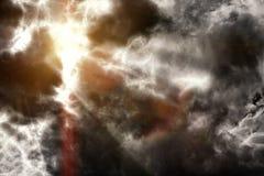 Σκοτάδι που συλλέγει τα σύννεφα Στοκ Εικόνες