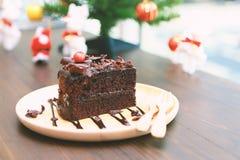σκοτάδι σοκολάτας κέικ στοκ φωτογραφίες με δικαίωμα ελεύθερης χρήσης