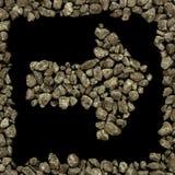 Σκοτεινά βέλος και πλαίσιο αμμοχάλικου Στοκ εικόνα με δικαίωμα ελεύθερης χρήσης