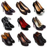 σκοτεινά θηλυκά παπούτσια 1 Στοκ εικόνες με δικαίωμα ελεύθερης χρήσης
