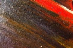 Σκοτεινά, μη όμορφα, μικτά χρώματα στον καμβά Στοκ Εικόνες