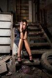 σκοτεινά σκαλοπάτια κο&rh Στοκ φωτογραφία με δικαίωμα ελεύθερης χρήσης