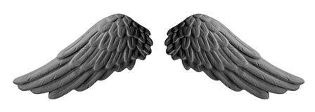 Σκοτεινά φτερά ασβεστοκονιάματος Στοκ Εικόνες