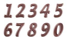 Σκοτεινά ψηφία σοκολάτας καθορισμένα Στοκ Εικόνα