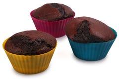 Σκοτεινά Muffins σοκολάτας στοκ εικόνα με δικαίωμα ελεύθερης χρήσης