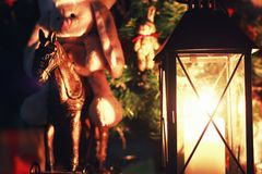 Σκοτεινές διακοπές φαναριών κεριών Στοκ εικόνες με δικαίωμα ελεύθερης χρήσης