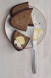Σκοτεινές φέτες ψωμιού σίκαλης Στοκ Φωτογραφία