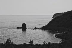Σκοτεινή ακτή Στοκ Εικόνα