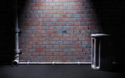 Σκοτεινή αλέα Στοκ φωτογραφία με δικαίωμα ελεύθερης χρήσης