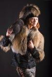σκοτεινή γούνα Στοκ Φωτογραφίες