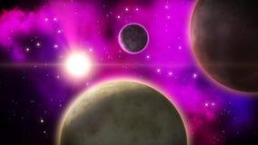 Σκοτεινή διαστημική σκηνή βρόχος απεικόνιση αποθεμάτων