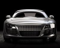 Σκοτεινή εσωτερική τρισδιάστατη απεικόνιση σπορ αυτοκίνητο πολυτέλειας Στοκ Εικόνα
