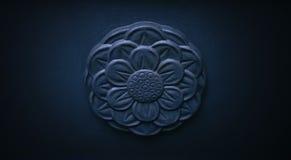 Σκοτεινή διακόσμηση εμβλημάτων λουλουδιών πετρών Στοκ εικόνες με δικαίωμα ελεύθερης χρήσης