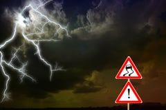 σκοτεινή δραματική θύελλα σύννεφων Αστραπή Στοκ Εικόνα