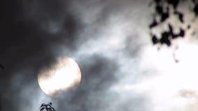 σκοτεινή δραματική θύελλα σύννεφων απόθεμα βίντεο