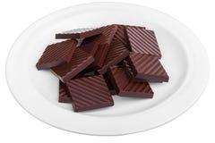 Σκοτεινή σοκολάτα καθαρή Στοκ Εικόνες