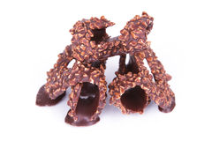 Σκοτεινή σοκολάτα με το αμύγδαλο Στοκ εικόνα με δικαίωμα ελεύθερης χρήσης