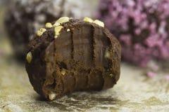 Σκοτεινή τρούφα σοκολάτας Στοκ Φωτογραφία