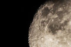 σκοτεινή φάση δύο φεγγαριών λεπτομέρειας σεληνιακή Στοκ Εικόνες